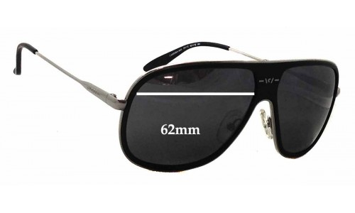 Carrera 88-S Replacement Sunglass Lenses - 62mm wide