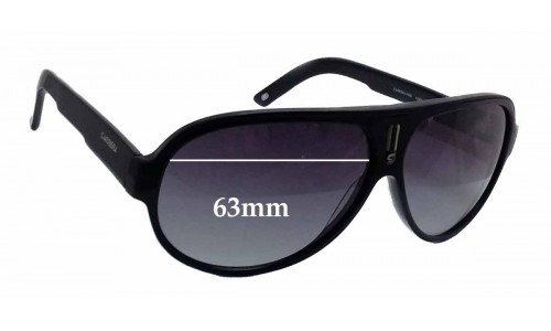 Carrera 9908 Replacement Sunglass Lenses - 63mm wide