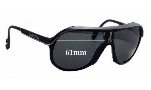 Carrera CA 5544 Replacement Sunglass Lenses - 61mm wide