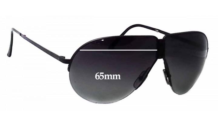 Ultimate Extrm Slv Mirror DrkBlck Pair-Regular SFx Replacement Sunglass Lenses fits Carrera Porsche Design 5628 65mm wide