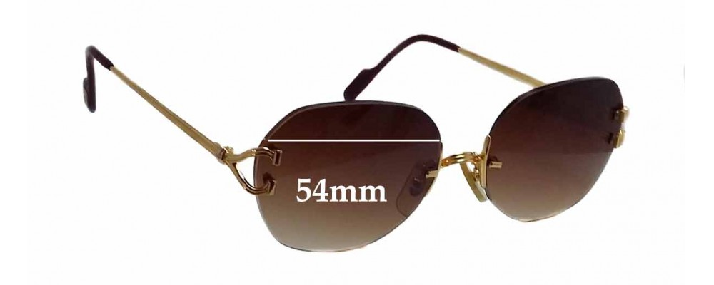 Cartier 2483083 Replacement Sunglass Lenses - 54mm wide *The Sunglass Fix Cannot make lenses for these frames*