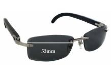 Cartier 3524012 Replacement Sunglass Lenses - 53mm wide