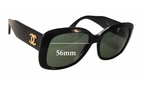 Chanel 0009 Replacement Sunglass Lenses - 56mm wide