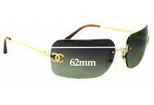 Chanel 4017-D Replacement Sunglass Lenses - 62mm wide