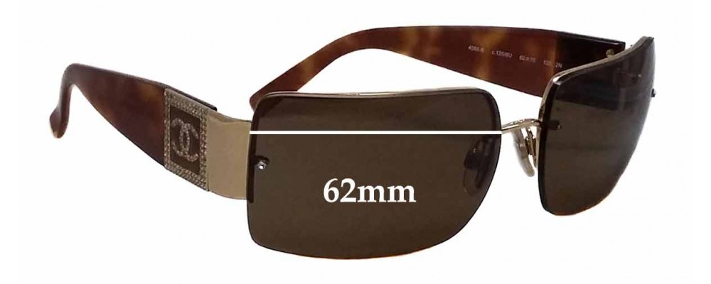 b9cd3ef6271 Chanel 4095-B Replacement Sunglass Lenses - 62mm wide