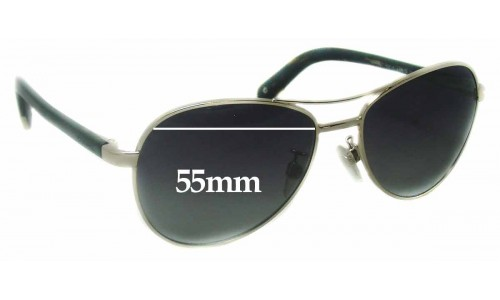 Chanel 4201-A Replacement Sunglass Lenses - 55mm wide