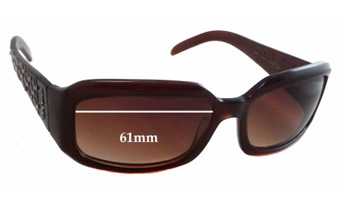 Chanel 5097 Replacement Sunglass Lenses - 61mm wide - 37mm tall