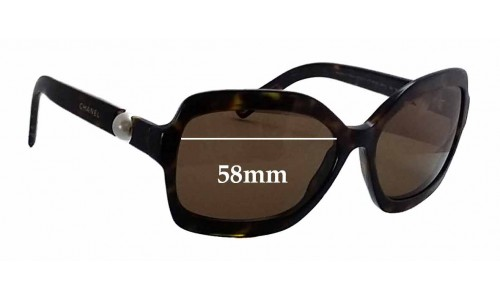 Chanel 5132-H Replacement Sunglass Lenses - 58mm wide