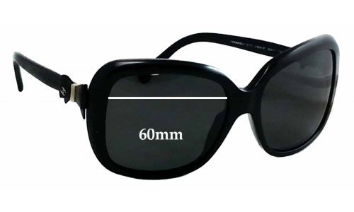 Chanel 5171 Replacement Sunglass Lenses 60mm wide