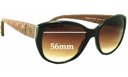 Chanel 5199-Q Replacement Sunglass Lenses - 56mm wide