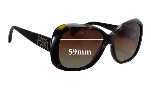 Chanel 5248 Replacement Sunglass Lenses - 59mm wide