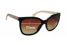 Chanel 5288-Q Replacement Sunglass Lenses - 57mm wide