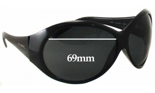 Sunglass Fix Replacement Lenses for Chanel 6015 - 69mm wide