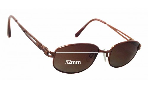 Charmant CH10864 Replacement Sunglass Lenses - 52mm wide x 31mm tall