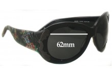 Christian Audigier CAS409 Replacement Sunglass Lenses - 62mm Wide