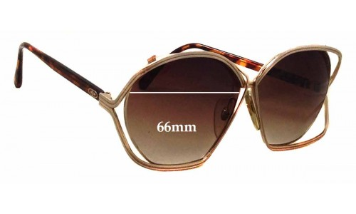 Sunglass Fix Replacement Lenses for Christian Dior 2499 - 66mm wide