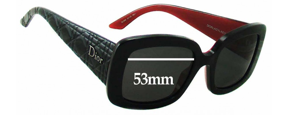31ac8a1357bd Christian Dior - Dior Lady - Lady 2 Sunglass Replacement Lenses - 53mm Wide