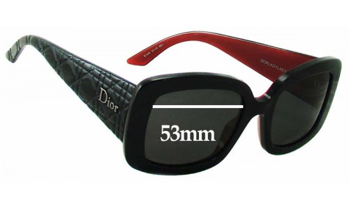 Christian Dior - Dior Lady - Lady 2 Replacement Sunglass Lenses - 53mm Wide