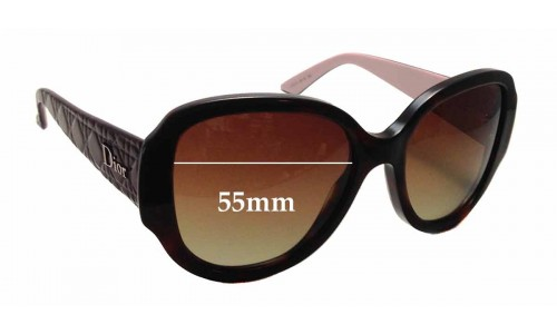 Christian Dior Lady In Dior 1 Replacement Sunglass Lenses - 55mm Wide