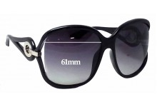 Christian Dior Volute 2 Replacement Sunglass Lenses - 61mm Wide
