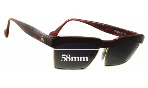 Christian Lacroix 7318 Replacement Sunglass Lenses - 58mm Wide