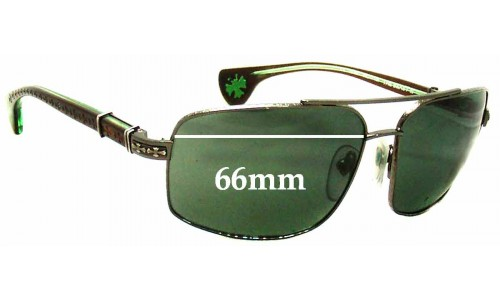 Chrome Hearts The Beast III Replacement Sunglass Lenses - 66mm wide (Note - Theses do NOT fit The Beast I or Beast II frames)