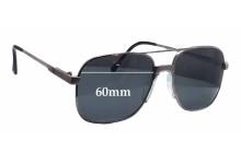 Clark Kent Highlander Replacement Sunglass Lenses - 60mm wide