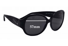 Coach Angeline 8037B Replacement Sunglass Lenses - 57mm wide