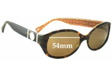 Coach Anna Replacement Sunglass Lenses - 54mm wide