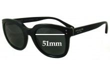 Sunglass Fix New Replacement Lenses for Coach HC8047 Casey - 51mm Wide
