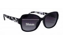 Sunglass Fix New Replacement Lenses for Coach HC8166F - 58mm Wide