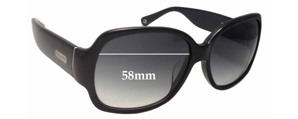 7de9f7104102 Coach Odessa S822 Replacement Lenses 58mm by The Sunglass Fix™