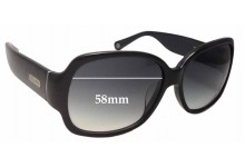 Coach Odessa S822 Replacement Sunglass Lenses - 58mm wide