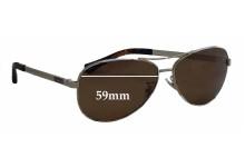 Coach Stefanie HC 7025 Replacement Sunglass Lenses - 59mm wide