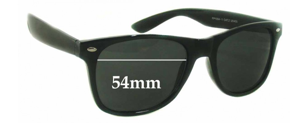 Cooleyes Eyewear FP1004-1 Replacement Sunglass Lenses - 54mm Wide