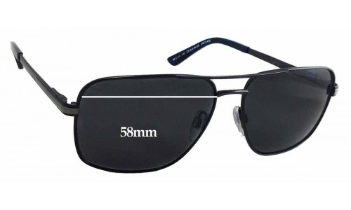 Country Road CR SunRx 09 Replacement Sunglass Lenses - 58mm wide - 45mm tall