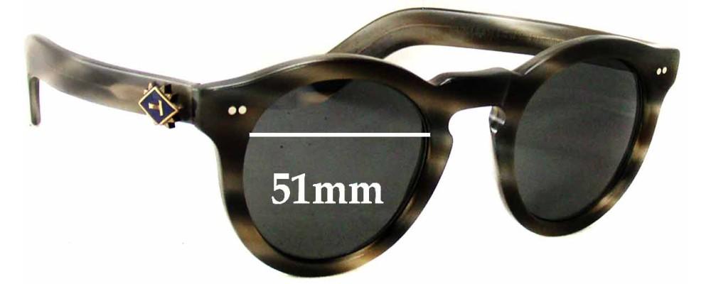 Cutler and Gross M:0734 Replacement Sunglass Lenses - 51mm wide