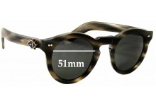 Cutler and Gross M:0734 Replacement Sunglass Lenses - 51mm wide