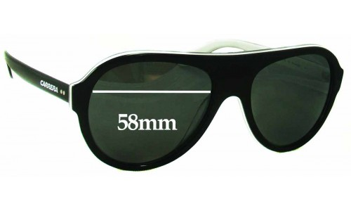 Carrera 84/S Replacement Sunglass Lenses - 58mm Wide