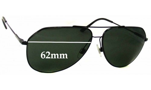 Dolce & Gabbana DG2129 Replacement Sunglass Lenses - 62mm wide