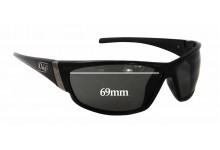 Dirty Dog Stoat Replacement Sunglass Lenses - 68-69mm x 40mm - Must be custom made - Please order custom made and installed lenses.
