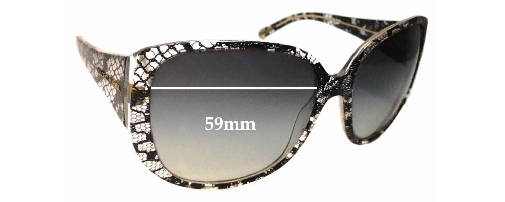 Dolce & Gabbana DG4116 Replacement Sunglass Lenses - 59mm wide