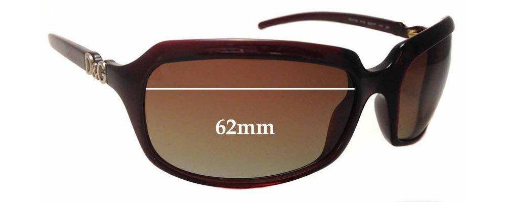 5c86cde80818 Dolce   Gabbana DD2192 Replacement Sunglass Lenses - 62mm wide