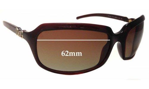 Dolce & Gabbana DD2192 Replacement Sunglass Lenses - 62mm wide