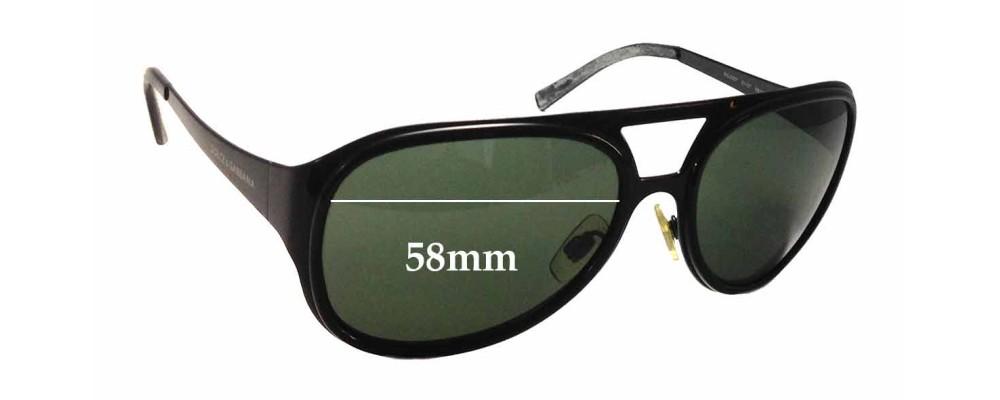 Dolce & Gabbana DG2037 Replacement Sunglass Lenses - 58mm wide