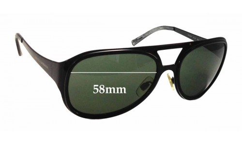 Dolce & Gabbana DG2037 Replacement Sunglass Lenses - 58mm wide