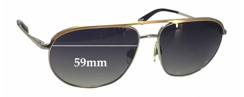 Dolce & Gabbana DG2092 Replacement Sunglass Lenses - 59mm wide