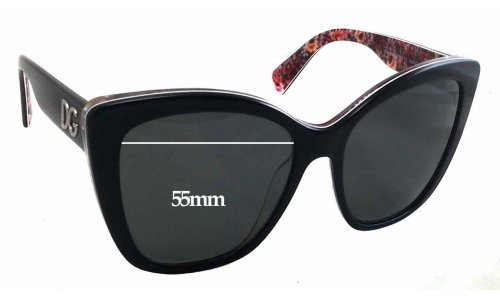 Dolce & Gabbana DG4216 Replacement Sunglass Lenses - 55mm wide