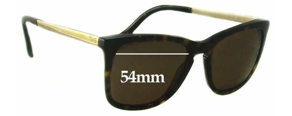 Dolce & Gabbana DD3081 Replacement Sunglass Lenses - 54mm wide