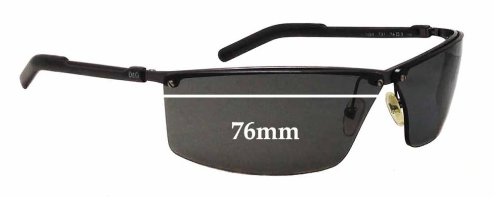 Dolce & Gabbana DG2084 Replacement Sunglass Lenses - 76mm wide